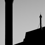 Two Chimneys in Silhouette